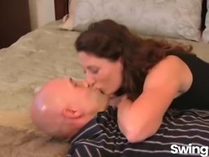 Couple tries swinging
