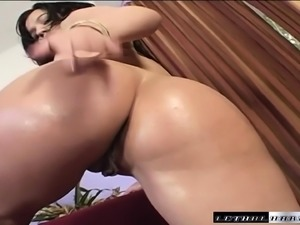 Gabriella Demarco oils up her marvelous body and wildly fucks a cock