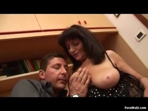 Busty mom gets her old pussy fucked