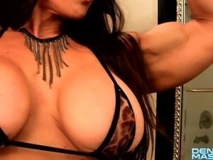 Denise Masino - Pampered Feline love - Female Bodybuilder
