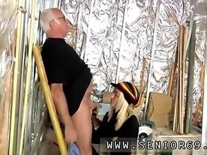 Old man bangs big Gorgeous platinum-blonde