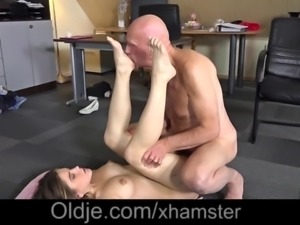 Horny Teen school girl 69 sex with old teacher