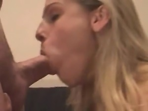 Sensuous blonde enjoys rough anal sex and takes a mouthful