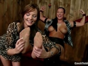 Isabell Tickled In Nylons [Only Nylon Tickling]