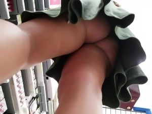 One of the most perfect asses you will ever see upskirt