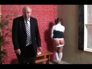 Spanked in the school hallway