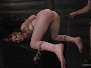 You have to show that slut, who is the boss. Tie her up and use her, anyway...