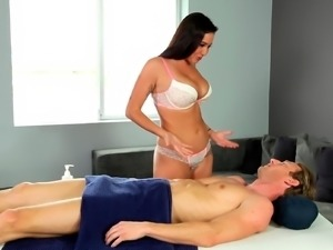 Stepsister as a horny masseuse