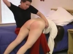 OTK spanking in the bedroom