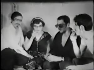 3 stooges + 1 crazy woman - circa 1950
