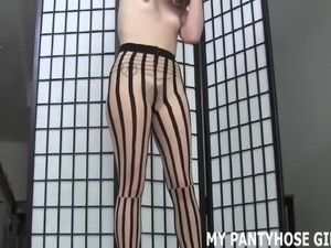 I will jerk you off in nothing but my pantyhose JOI