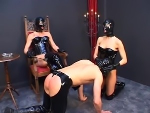 Doms in Masks, Smoking, Slave