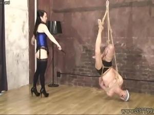 Mistress Land Masochist Man Hanging