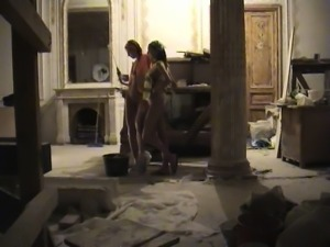 Two hot girls take their clothes off and play with each oth