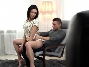 Petite girl gets fucked and ends up with creampie