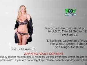 Beauty Julia Ann suck cock in POV style