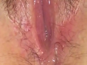 Wet pussy juice solo