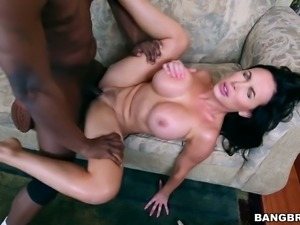 Mega busty brunette bitch Nikki Benz gets drilled with bbc