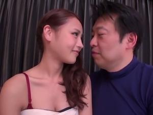 Chubby Asian guy fucks a super cute Japanese girl
