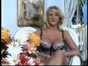 Blonde mom Jenny B gets her juicy holes fingered and fucked hard