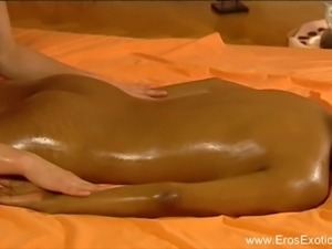 Brunette Lovers Massage Lesson