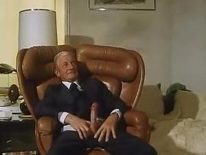 Old Man Fucks a Hot Blonde Babe in a Les Hotesses du Sexe Scene
