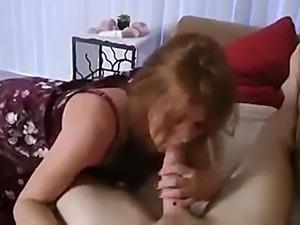 Caught stroking with mom's panties