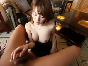 Nothing can please Mayu like sucking the guy's erected penis