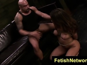 FetishNetwork Mena Li rope bondage sex