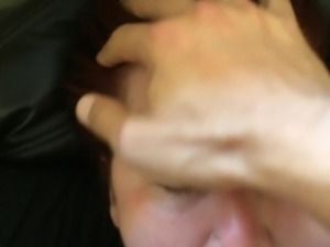 Cum Whore cock slapped on couch with huge messy facial - 4