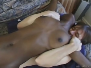 Black chick with shapely butt gets fucked in all possible positions