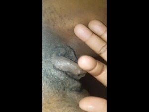 Playing with her clit