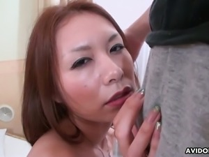 All this Japanese hoe Yukina Mori wants to do is suck dick