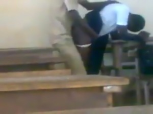 teen african students fucking doggstyle in class