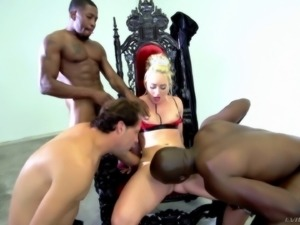 Hung guys of all colors are here to give her a gangbang adventure