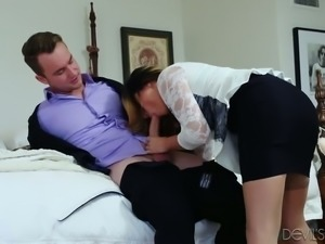 Babe of your dream Danica Dillon seduces her man and gives him indoor and...