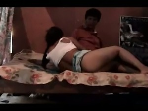 Lovely and horny amateur Indian girl riding on her boyfriend