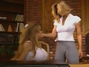 two lesbian licking