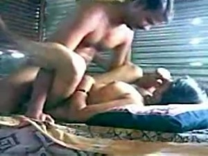 Busty amateur Indian babe in missionary and sideways position
