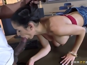 Black horny teacher stretched tight kitty of petite raven haired girlie rough