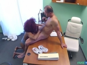 This luxury ebony milf with pair of big boobs, opened the door of my hospital...