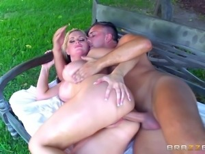 Nothing can please Alena Croft like taking the sausage deep into ass