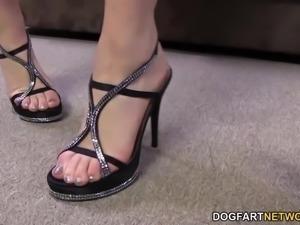 Kagney Linn Karter BBC Foot Fetish