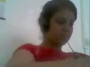 Brunette Arab teen cutie let me peek on her big boobies