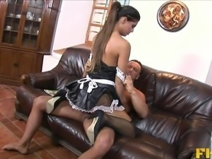 Fhuta  This naughty maid lets her master