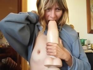 Wife licks my anal dildo