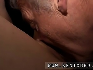 Hotel maid old man Bruce a filthy old boy loves to pulverize