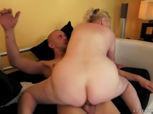 Fat and ugly granny Sila gets drilled hard by a bald dude