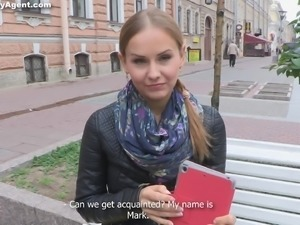 Russian teen stimulated as she gets a rim job before being humped missionary
