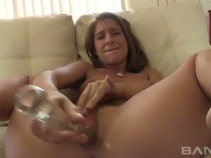 Horny hoe Dana Vespoli toys pussy of her dark haired spoiled kooky tough